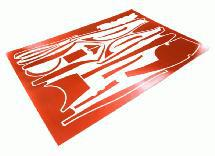 Scratch Resistance Sticker Set Decal for Traxxas 6507R TQi 2.4GHz 4CH Controller
