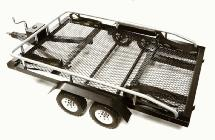 Machined Alloy Flatbed Dual Axle Car Trailer Kit for 1/10 Scale RC 640x370x110mm