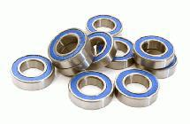 Low Friction Blue Rubber Sealed Ball Bearings (10) 10x19x5mm for RC Vehicles