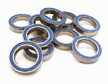 Low Friction Blue Rubber Sealed Ball Bearings (10) 17x26x5mm for RC Vehicles
