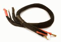 2S High Current Charge/Balance Cable w/ 5mm Bullets Pack Side, 10AWG Wire L=61cm