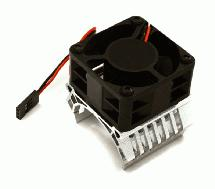 36mm Motor Heatsink+40x40mm Cooling Fan 16k rpm for Most 1/10 On-Road & Off-Road