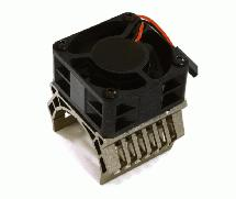 36mm Motor Heatsink+40x40mm Cooling Fan 16k rpm for 1/10 TR-MT10E & TRX-4
