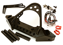 Metal Alloy Front Bumper w/LED(2) for Axial 1/10 SCX10 (43mm Type Mount)