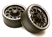 1.9 Size Billet Machined Alloy 10 Spoke Wheel(2)High Mass Type for Scale Crawler