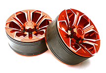 1.9 Size Billet Machined Alloy 6 Spoke Wheel(2) High Mass Type for Scale Crawler