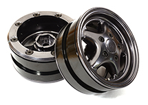1.9 Size Machined Alloy 5 Spoke Wheel (2) for 1/10 Scale Crawler