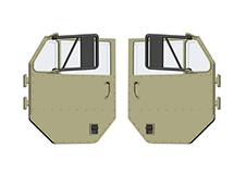 Door Assembly 8012-P0007 Green for HG-P801 1/12 8X8 RC Military Truck