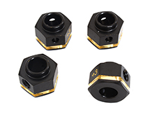 12mm Hex Wheel (4) Hub Brass +3mm Offset for Traxxas TRX-4 Scale & Trail Crawler