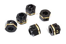 12mm Hex Wheel (6) Hub Brass +3mm Offset for Traxxas TRX-6 Scale & Trail Crawler