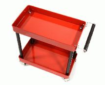 Realistic Scale Model 2-Tier Rolling Metal Storage Organizer Cart for RC