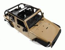 Realistic JW10-C Hard Plastic Body Kit for 1/10 Crawler WB=313mm (Matte Brown)