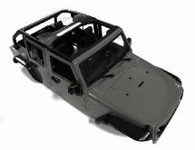 Realistic JW10-C Hard Plastic Body Kit for 1/10 Scale Off-Road Crawler WB=313mm