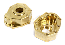 CNC Machined Brass 43g Each Portal Cover (2) for Traxxas TRX-4 Scale Crawler
