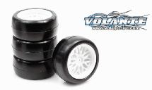 Volante Mini 24R Rubber Slick Tire Pre-glued 4pcs (0 Offset)