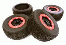 Composite Short Course 2.2/3.0 Size Beadlock Wheel & Tire (4) (O.D.=108mm)