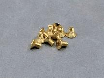 3x5mm Gold Plated Hex Countersunk Screw (10Pcs)