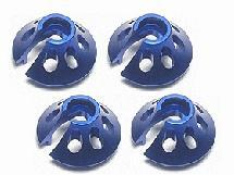 3Racing Spring Bottom Cap For 1/10 Revo - Blue