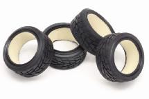RIDE 26mm Radial Tires (4) w/ Sponge Inserts for 1/10 Touring Car