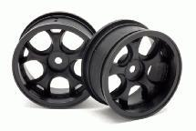 RIDE Black 26mm 5W Wheels (2) Offset 7 for 1/10 Touring Car