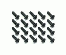 Square R/C M3 x 8mm Black Steel Button Head Hex Screws (20 pcs.)