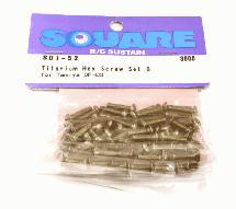 Square R/C Titanium Hex Screw Set B (for Tamiya DF03)