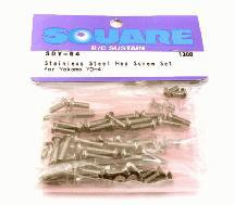Square R/C Stainless Steel Screw Set (for Yokomo YD-4)