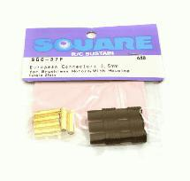 Square R/C European Connectors - 3.5mm (Female) for Brushless Motors, w/ Housing