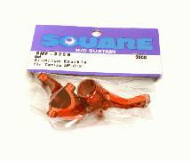 Square R/C Aluminum Knuckle (for Tamiya MF-01X) Red