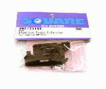 Square R/C Aluminum Front Hub Carrier (for Tamiya MF-01X) Black