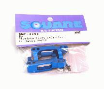 Square R/C Aluminum Front Hub Carrier (for Tamiya MF-01X) Blue