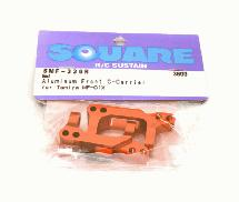 Square R/C Aluminum Front Hub Carrier (for Tamiya MF-01X) Red