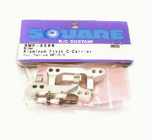 Square R/C Aluminum Front Hub Carrier (for Tamiya MF-01X) Silver