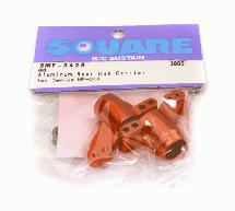 Square R/C Aluminum Rear Hub Carrier (for Tamiya MF-01X) Red