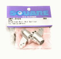 Square R/C Aluminum Rear Hub Carrier (for Tamiya MF-01X) Silver