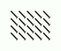 Square R/C M3 x 20mm Black Steel Flat Head Hex Screws (20 pcs.)