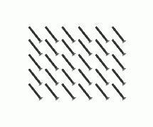 Square R/C M3 x 25mm Black Steel Flat Head Hex Screws (30 pcs.)