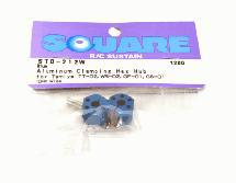 Square R/C Aluminum Clamping Hex Hub, 12mm Wide in Blue Color
