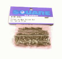Square R/C Titanium Hex Screw Set (for Tamiya TT-02)
