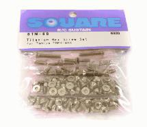 Square R/C Titanium Hex Screw Set (Tamiya TRF-419XR)