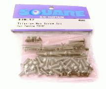 Square R/C Titanium Hex Screw Set (Tamiya T3-01)