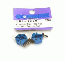 Square R/C Aluminum Wheel Hex Hub for Most Tamiya, 5mm (2 pcs.)