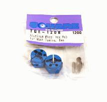 Square R/C Aluminum Wheel Hex Hub for Most Tamiya, 8mm (Blue)