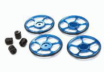 Setup Wheel (4) for Touring Car (Blue) w/ US Size Wheel Nut