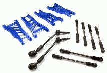 Billet Complete Extended EXT Suspension Set+Drive Shafts for 1/10 Slash 2WD
