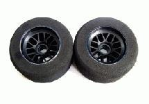 Team Powers 1/10 F-1 Foam Tyre-Blue Dot(Med)