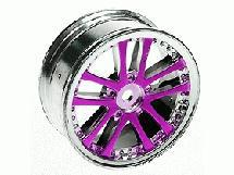 3Racing 1/10 5 Dual Spoke Rim On Road (0 Offset - 24mm) 4pcs- Purple