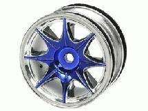 3Racing 1/10 8 Spoke Wheel Set For Tamiya M-Chassis Series (4pcs)- Blue