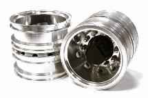 Machined Alloy T6 Rear Dually Wheel (2) for Tamiya 1/14 Scale Tractor Trucks